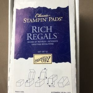Set of 12 Rich Regals retired Stampin Up ink pads
